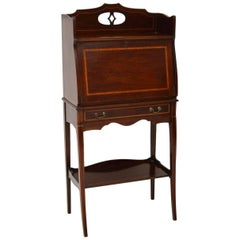 Antique Edwardian Inlaid Mahogany Writing Bureau