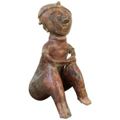 Large Male Chinesco Ancient Mexico Ceramic Figure