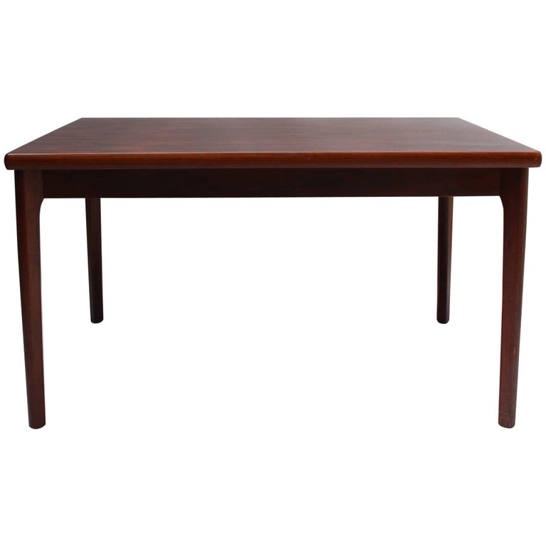 1960s Danish Rosewood Extendable Dining Table by Henning Kjærnulf