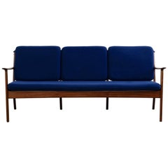 Three-Seat Mahogany Sofa by Ole Wanscher for P. Jeppesens Møbelfabrik