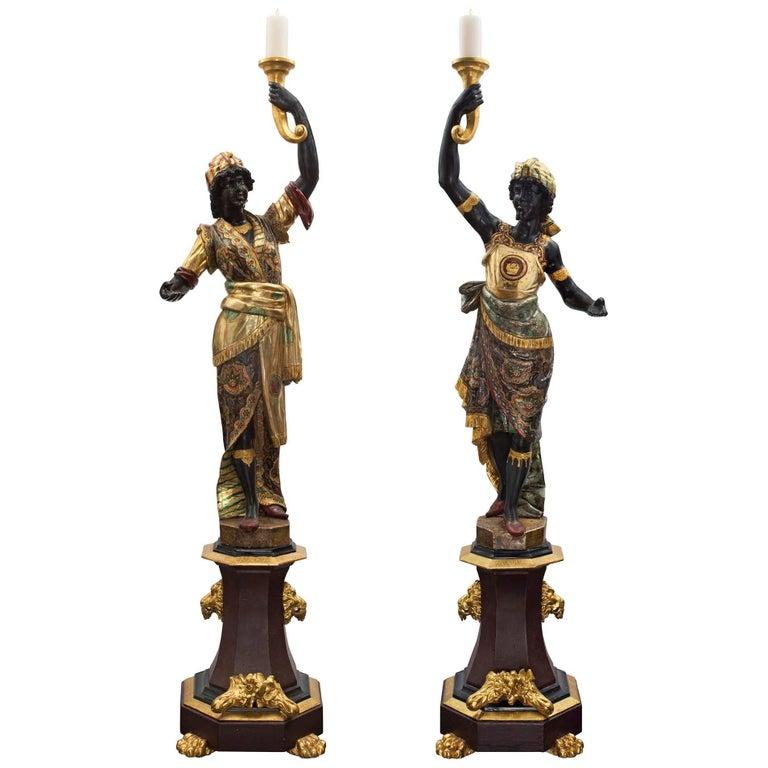True Pair of Italian 18th Century Venetian Blackamoors