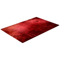 On Fire Red Rug in Silk from Fortuny Collection by Cristina Jorge de Carvalho