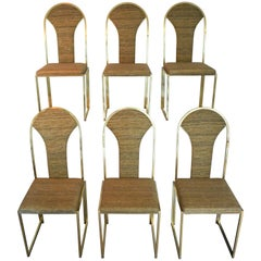 Belgo Chrome Dining Chairs with Supplemental Seat Covers, Mid-Century Modern