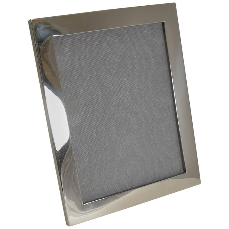 Smart Large Antique English Sterling Silver Photograph Frame, 1916