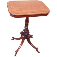 Antique Regency Mahogany Oblong Lamp Table