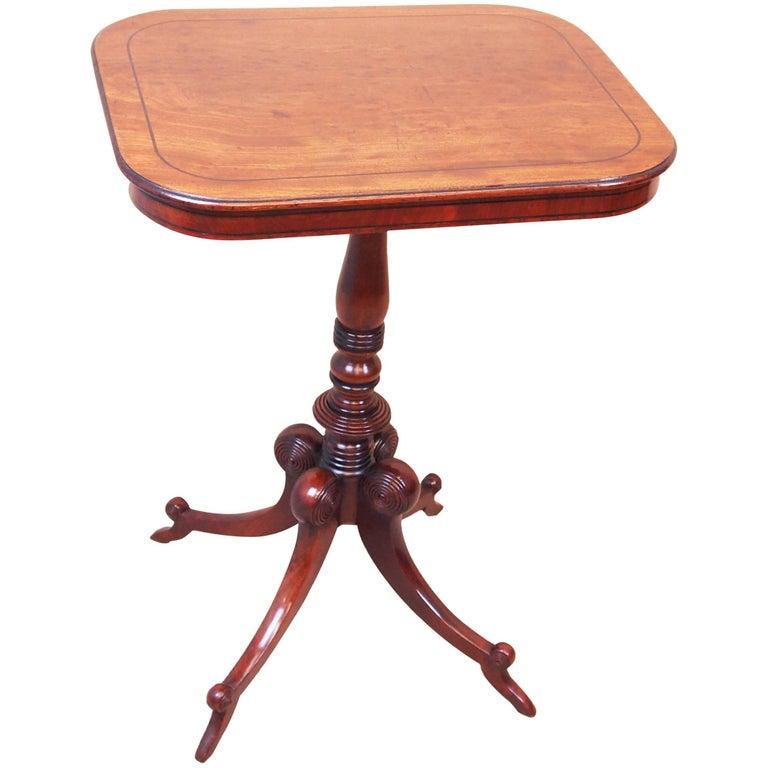 Antique Regency Mahogany Oblong Lamp Table