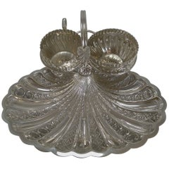 Antique English Silver Plated Strawberry Set by Roberts and Belk, circa 1900
