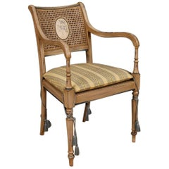 French Armchair in Painted Wood and Fabric from 20th Century