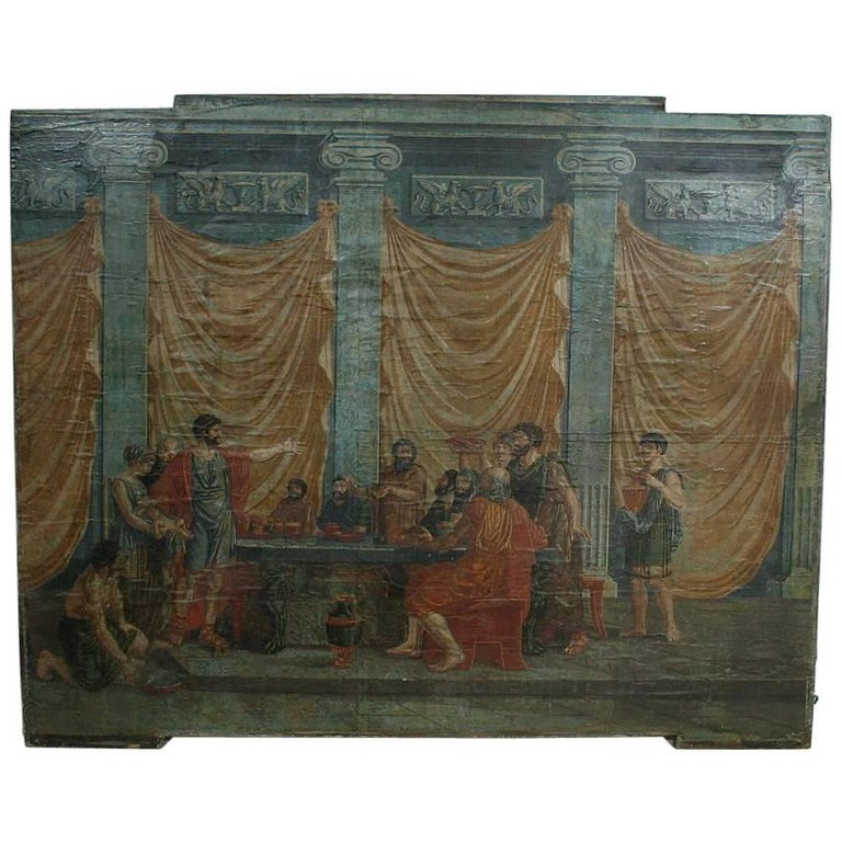 Italian 18th Century Classical Painted Panel