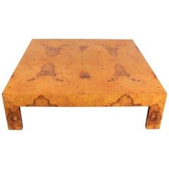 Large-Scale Burl Wood Coffee Table by Milo Baughman