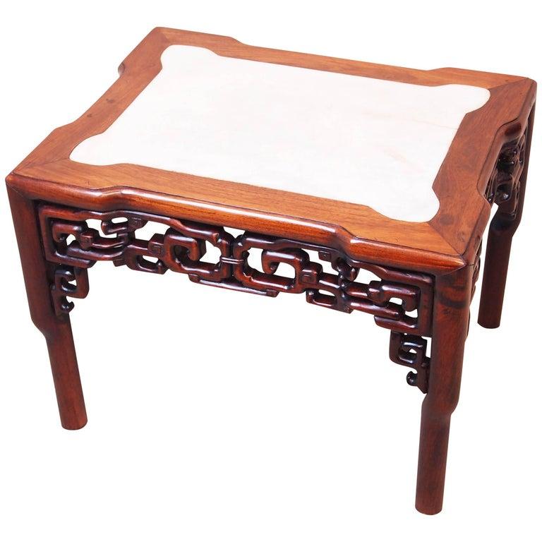 Antique 19th Century Oriental Hardwood Coffee Table