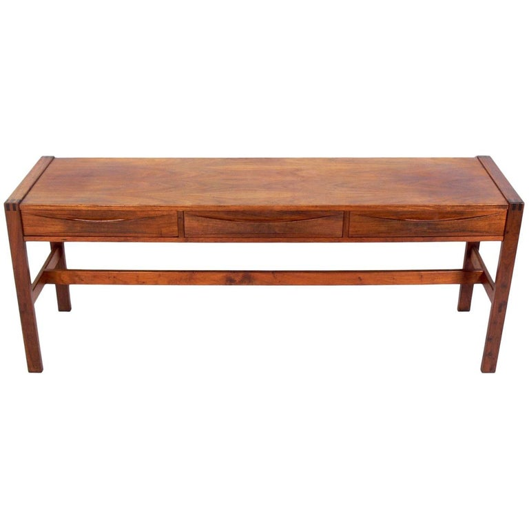 Clean Lined Midcentury Console Table by John Tabraham