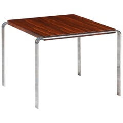 Midcentury Rosewood and Steel Side Table