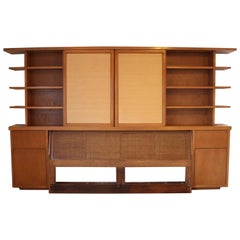 William Adair Bernoudy Architect Bookshelf Display Headboard Bed Frame