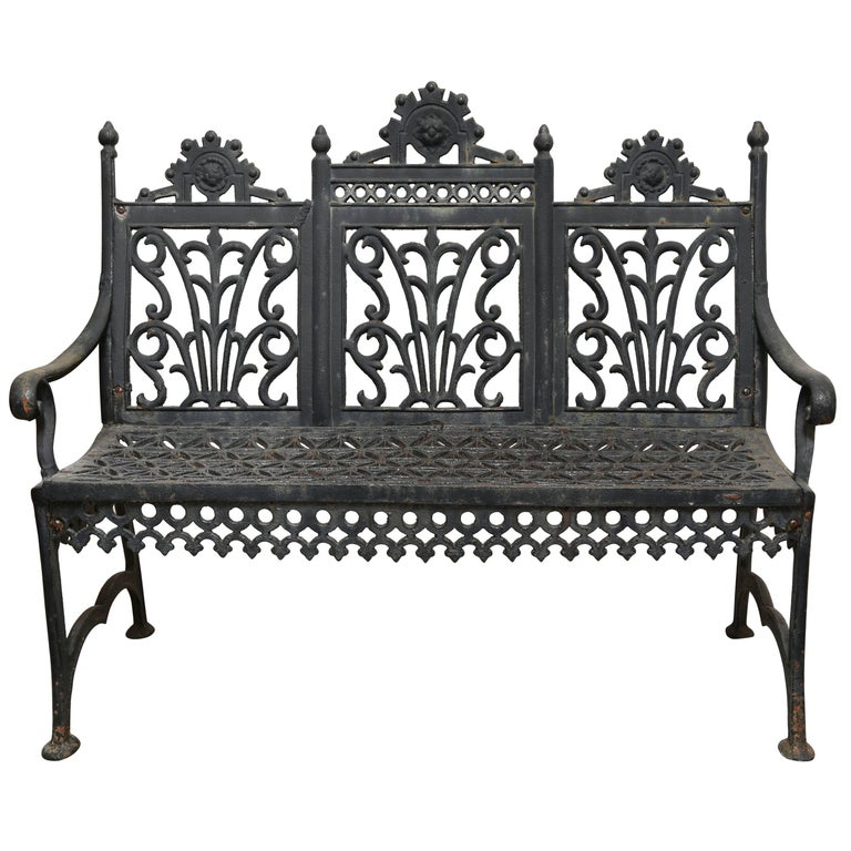 Child's Wrought Iron Bench