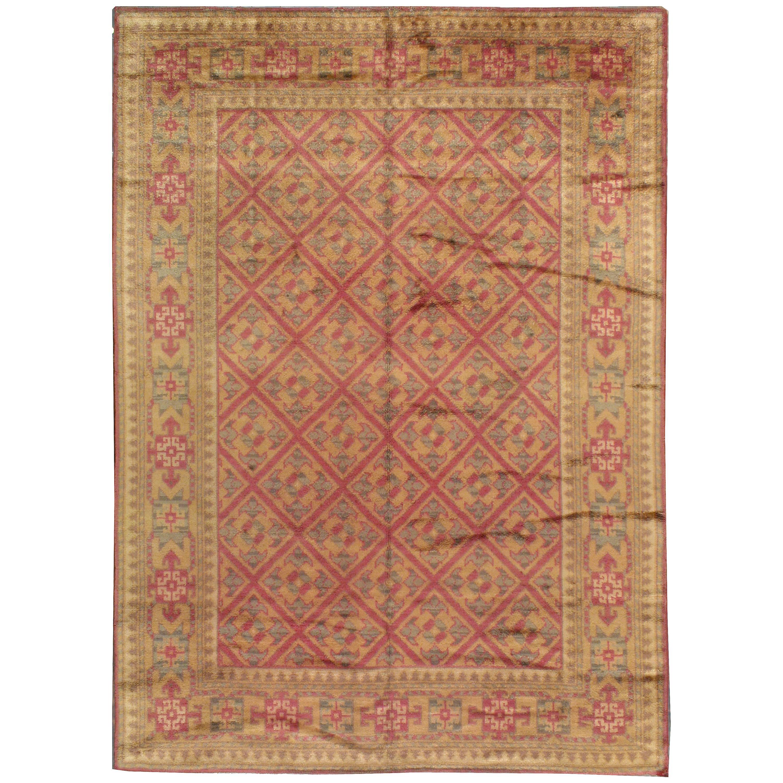 Vintage Viennese Savonnerie Style Rug