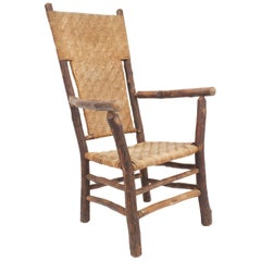 Old Hickory High Back Armchair