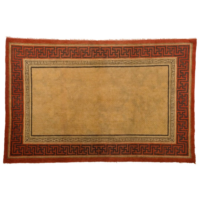 Meander Pattern Chinese Rug