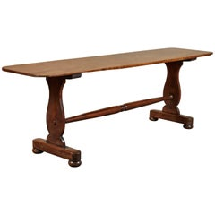 English Mahogany Trestle Table