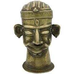 Mukha-Linga Head of Shiva from Maharashtra, India, Bronze, 18th-19th Century