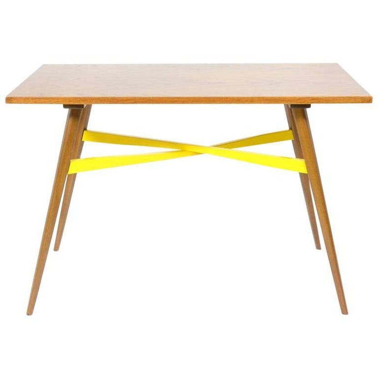 Coffee Table with Yellow Accent, 1970s