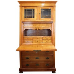 Art Nouveau Secretary Cherrywood