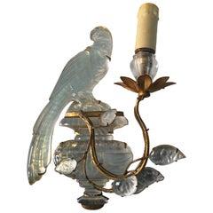 Maison Baguès Crystal Bird Leave Single Sconce