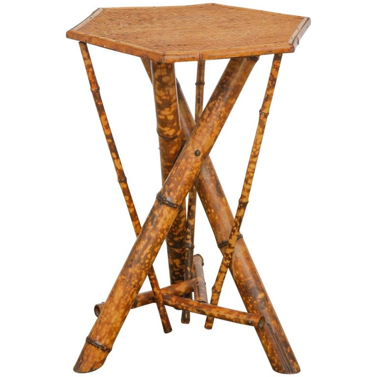 19th Century English Regency Bamboo Drink Table