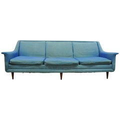 Mid-Century Modern Kroehler Curved Arm Sculptural Sofa, Adrian Pearsall Style