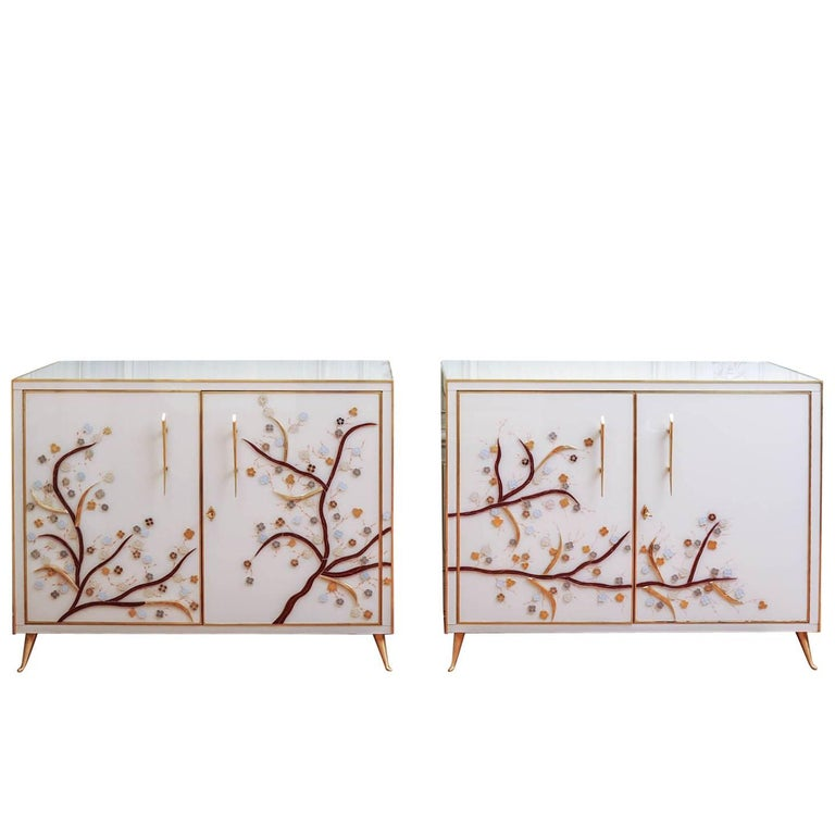 Pair of Vintage Mirror Cabinets