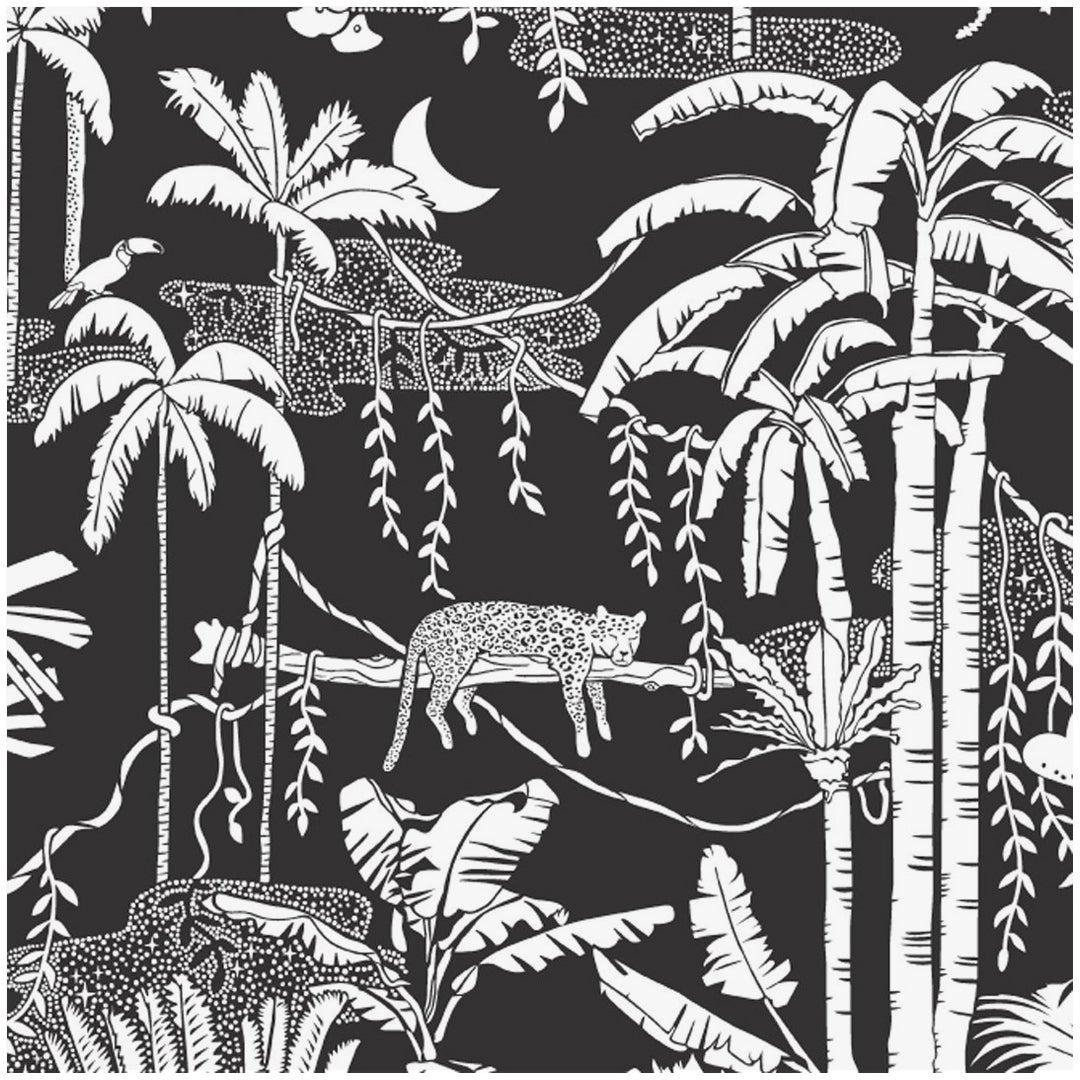 Jungle Dream Designer Wallpaper in Contrast 'Black and White'