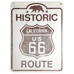 Vintage Route 66 Historic Sign