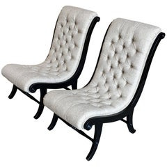 Tufted Slipper Chairs