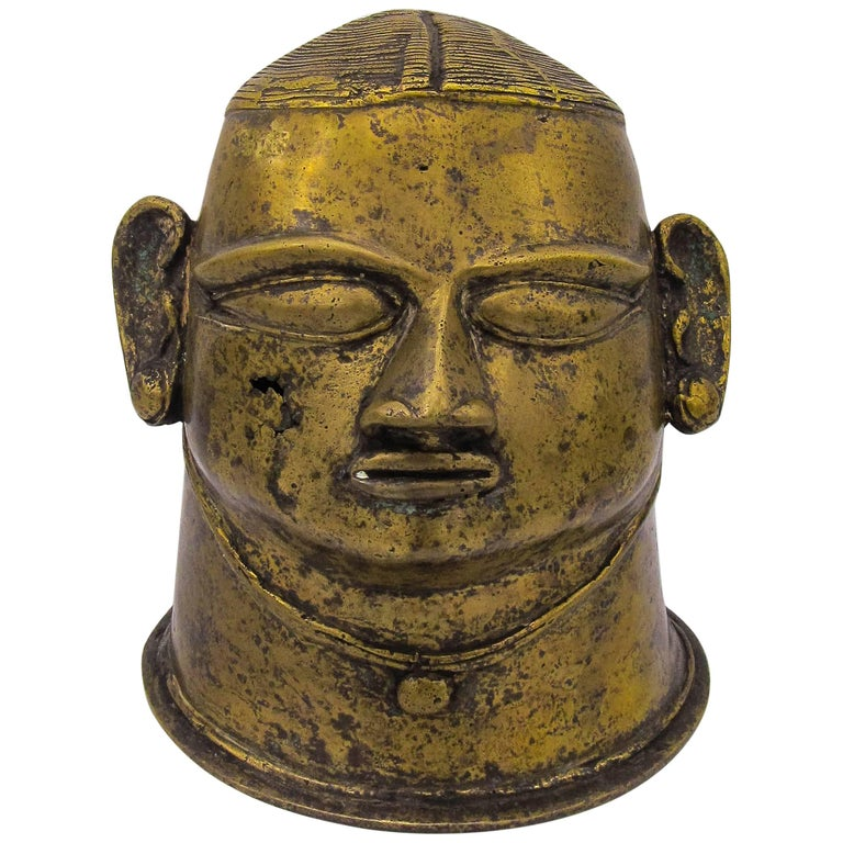 Head of Devi from Maharashtra, India, Bronze, 18th Century
