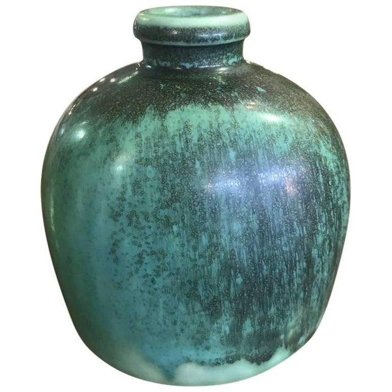 Saxbo Glazed Stoneware Vase/Vessel by Danish Designer Eva Staehr Nielsen