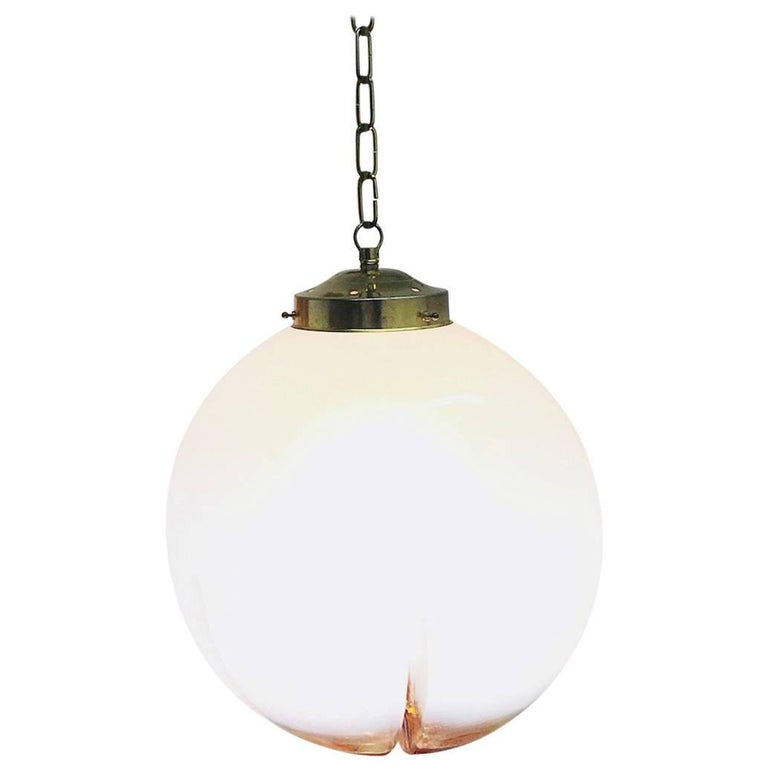 Hanging Organic Ball Fixture by Mazzega of Italy Pendant Chandelier For Sale