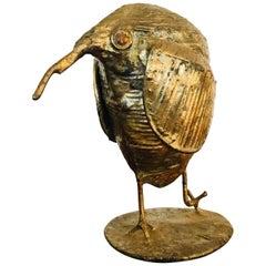Midcentury Brutalist Kiwi Bird Sculpture