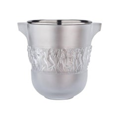 Lalique Bacchantes Champagne Bucket in Clear Crystal