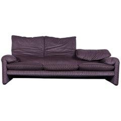 Cassina Maralunga Fabric Sofa Brown Three-Seat
