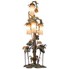 Unique Art Nouveau Table Lamp, France, circa 1900
