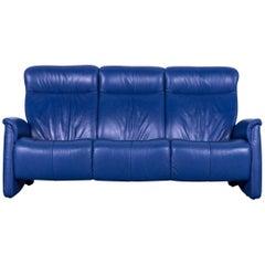 Himolla Leather Sofa Blue Three-Seat