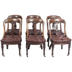 """Antique Set of Six """"Athenian"""" Design Mahogany Dining Chairs, 19th Century"""