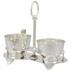 1936 Antique Sterling Silver Cream and Sugar Set