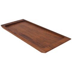 1960s Midcentury Danish Solid Wooden Teak Desk Accessory or Table Tray