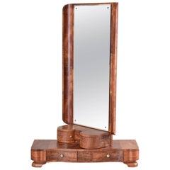 Walnut Art Deco Dressing Mirror from Czechoslovakia, Period 1920-1929