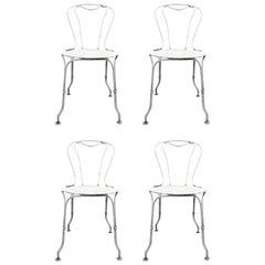Set of Four Iron Garden Cafe Chairs