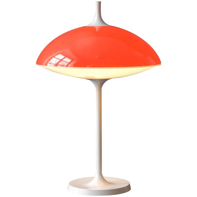 Large 1960s Pop Art Space Age Table Lamp by Temde / Made in Switzerland