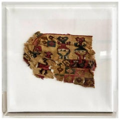 Framed Pre-Columbian Antique Textile
