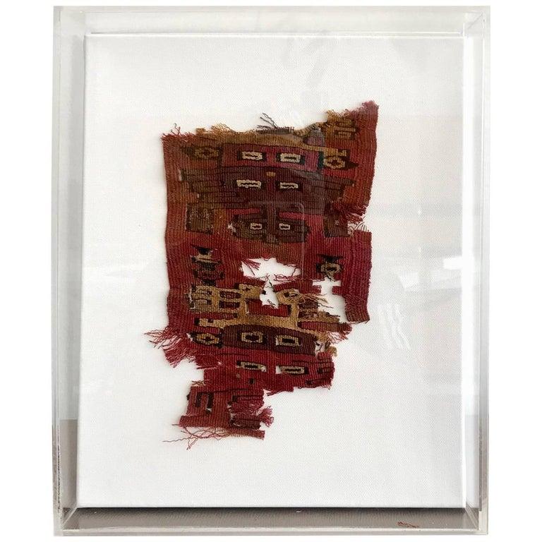 Framed Pre-Columbian Textile Fragment