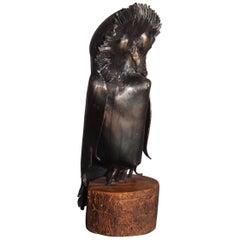 Small Owls Metal Sculpture